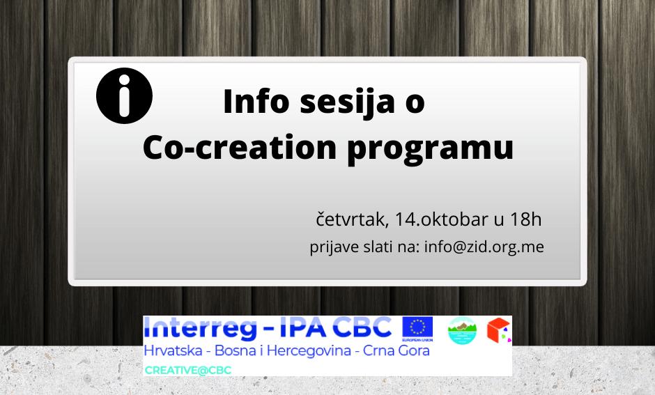 Info sesija o Co-creation programu